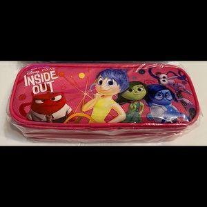 Disney Inside Out Zippered Pencil Case Bag - Pink